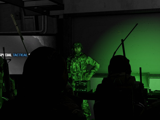 Briefing in the dark
