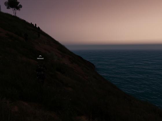 Mit Hellmood in den Sonnenuntergang