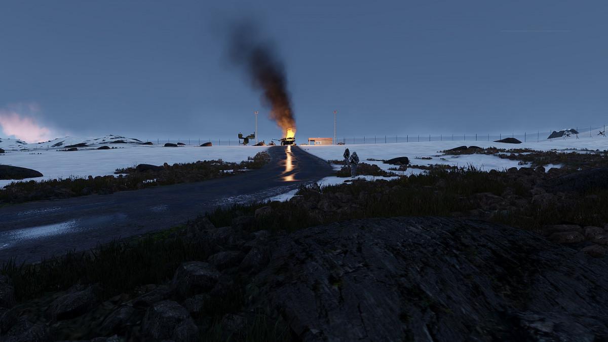 20.02.2021   Operation Arctic Wolf   Vereiste Straßen, brennende Wagen