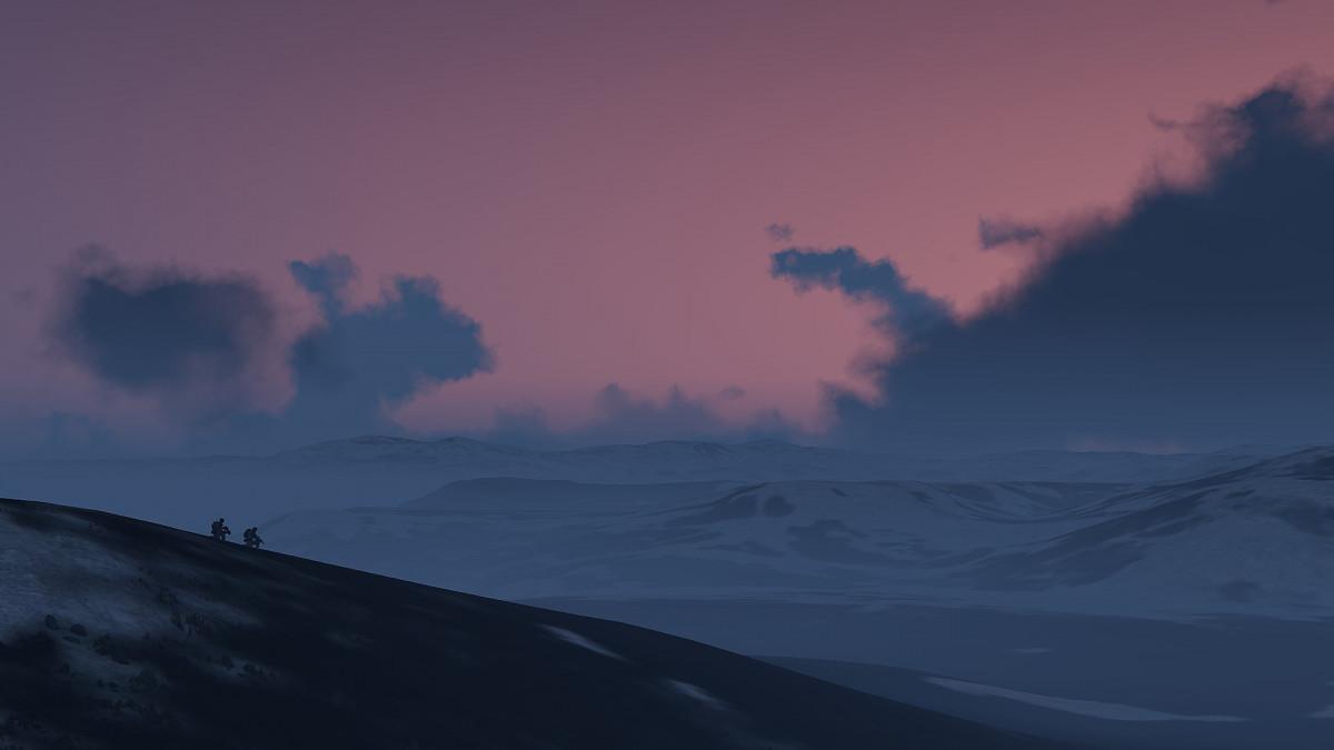 20.02.2021   Operation Arctic Wolf   Sonnenaufgang nah des Polarkreises
