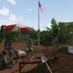 Im morgentlichen Vietnam auf Einsatz warten
